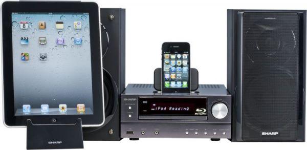 Sharp XL-BD601PH Blu-ray mikro hifi iPhone-nal és iPad-del