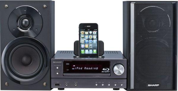 Sharp XL-BD601PH Blu-ray mikro hifi iPhone-nal