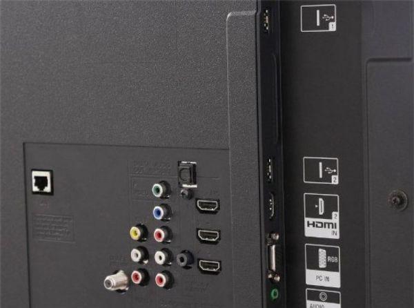 Sony KDL-46EX720 csatlakozók