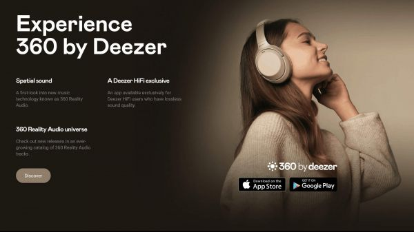 Deezer 360 Reality Audio