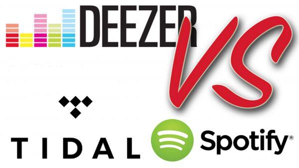 TIDAL Spotify Deezer