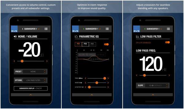 SVS 2000 Pro mélyláda App