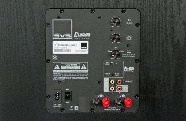 SVS PB-1000 aktív mélyláda  SVS PB-1000 aktív mélyláda teszt SVS PB 1000 rear panel