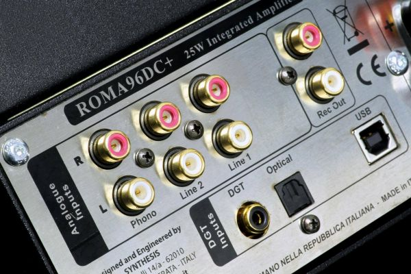 Synthesis Roma 96 DC+ csöves erősítő hátlap