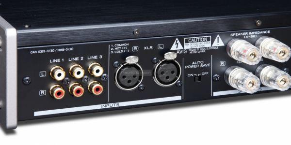 TEAC AX-501 hifi erősítő hátlap
