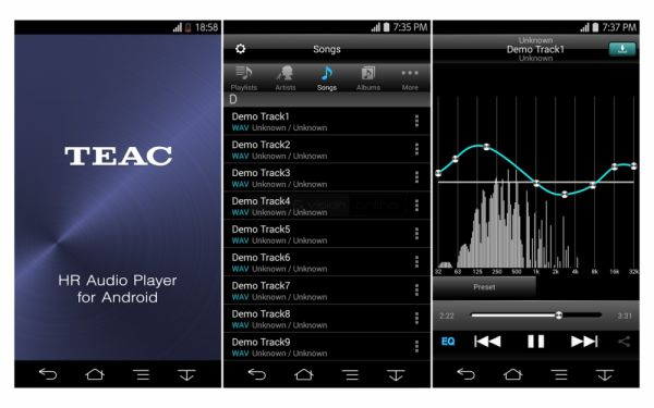 TEAC HR Audio Player App
