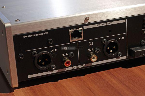 TEAC NT-505 USB DAC hátlap