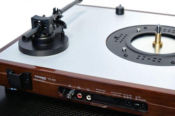 Thorens TD 402 DD vinyl lemezjátszó hátlap