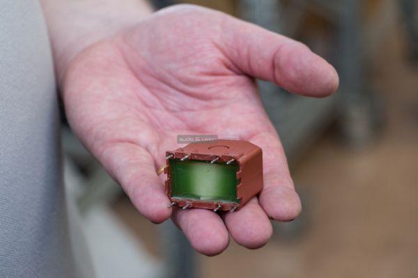 a Unison által használt egyik legkisebb transzformátor