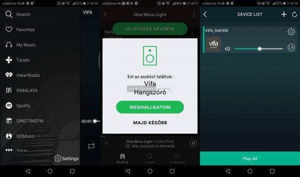 Vifa Copenhagen 2.0 Bluetooth hangszóró App