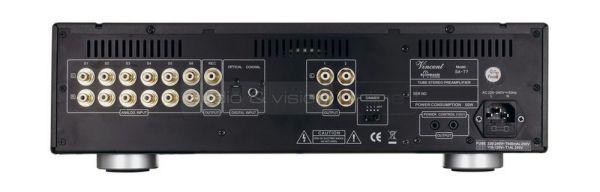 Vincent Audio SA-T7 előerősítő hátlap