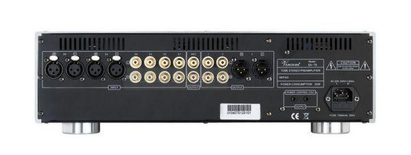 Vincent Audio SA-T8 elektroncsöves előfok hátlap