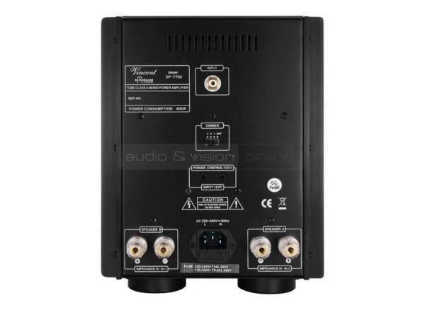 Vincent Audio SP-T700 elektroncsöves monoblokk hátfal