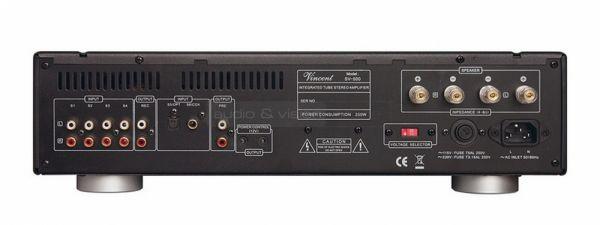 Vincent Audio SV-500 hibrid integrált sztereó erősítő hátlap