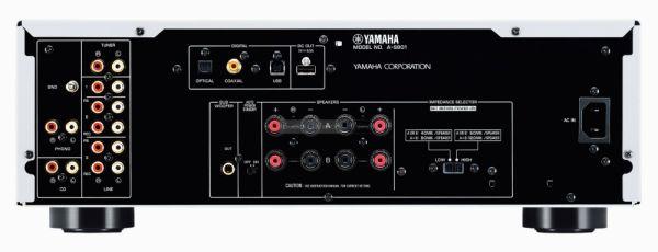Yamaha A-S801 hifi erősítő hátlap