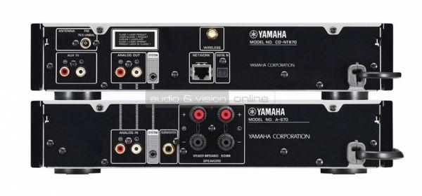 Yamaha Grand PianoCraft MCR-N670 hifi rendszer hátlap