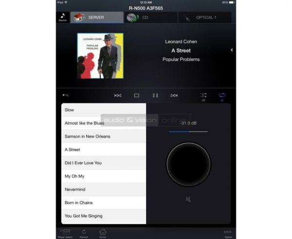 Yamaha R-N500 integrált sztereó hálózati rádióerősítő távvezérlő App