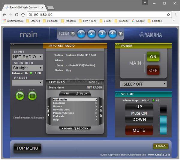 Yamaha RX-A1060 Web Control