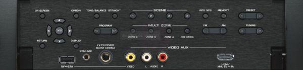 Yamaha RX-A2040 házimozi erősítő előlapi kezelőszervek