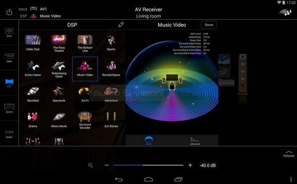 Yamaha RX-A2040 házimozi erősítő AV Controller remote App