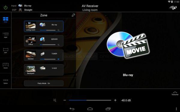 Yamaha RX-A840 házimozi erősítő távvezérlő App