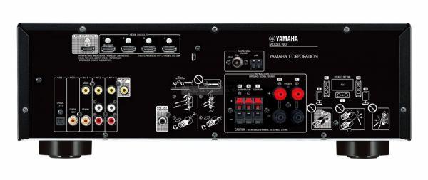 Yamaha RX-V383 házimozi erősítő hátlap
