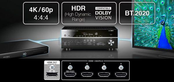 Yamaha RX-V483 házimozi erősítő HDMI