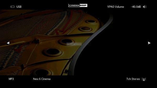 Yamaha RX-V685 házimozi erősítő menü status info
