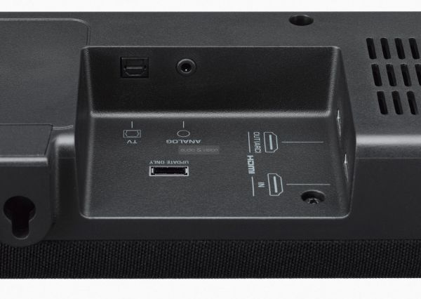 Yamaha YAS-207 soundbar csatlakozók