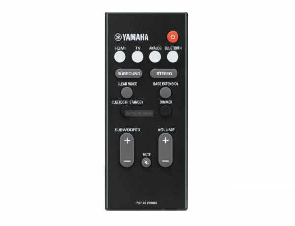 Yamaha YAS-207 soundbar távvezérlő
