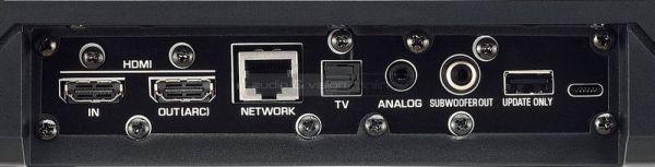 Yamaha YSP-1600 MusicCast soundbar csatlakozók