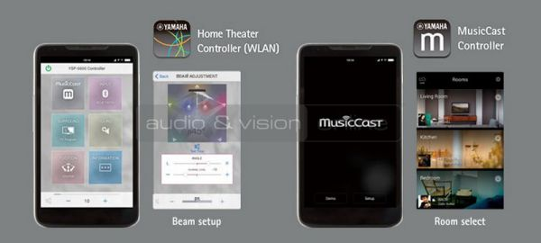 Yamaha YSP-5600 hangprojektor Controller App