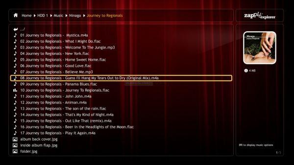 Zappiti 4K HDR explorer music