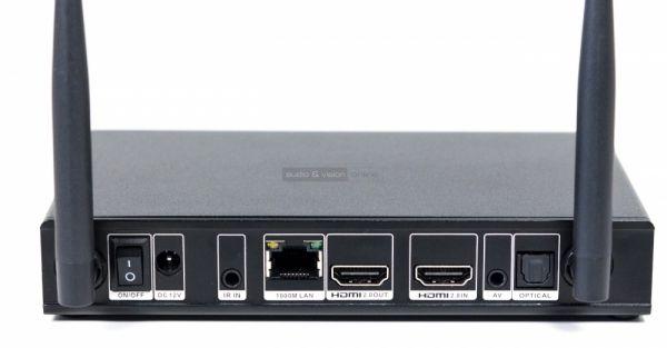 Zappiti Mini 4K HDR hálózati médialejátszó hátlap