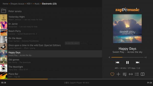 Zappiti Music Zappiti 4K HDR