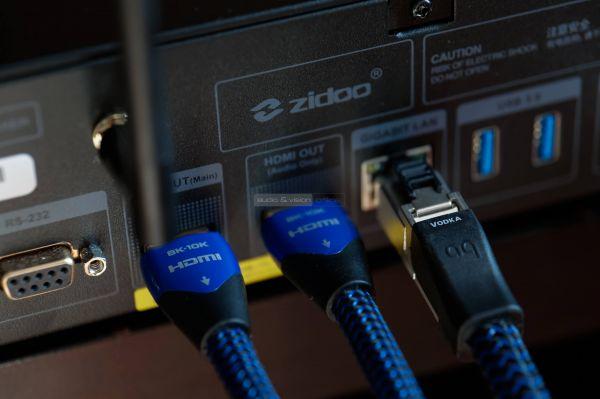 Zidoo UHD3000 hálózati médialejátszó hátlap